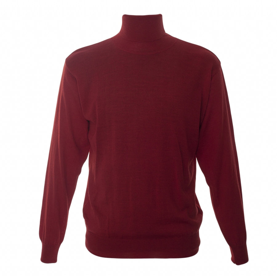 Rollcollar Pullover in Red