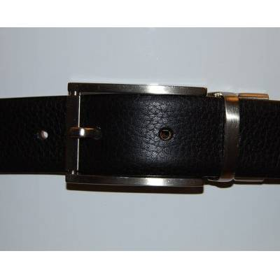 Reversible Belt in Black/Brown with Silver Coloured Buckle