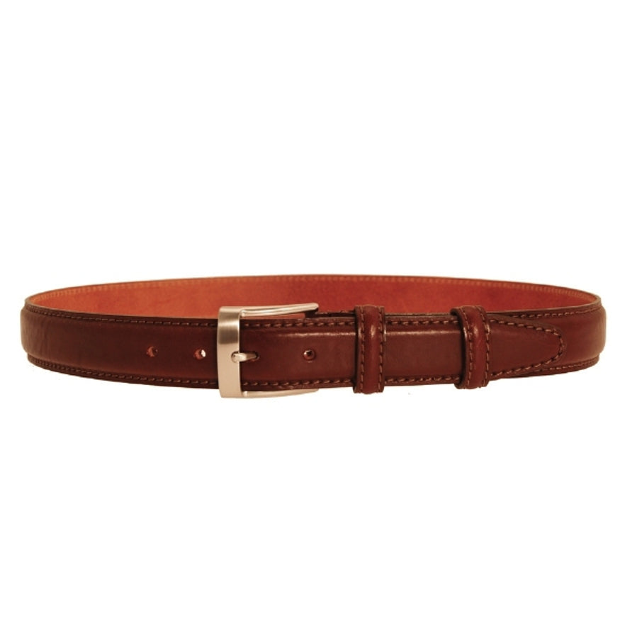 Leather Belt in Brown with Silver Colour Buckle