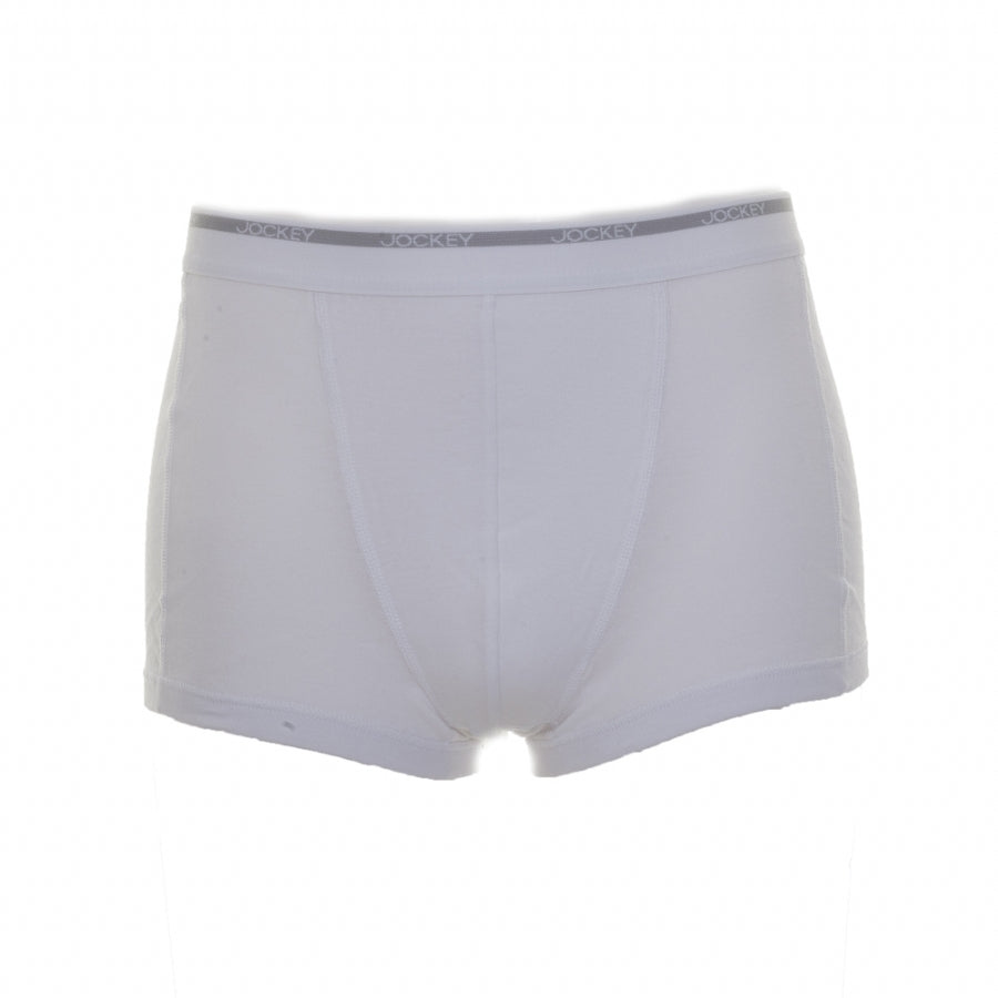Two Pack Modern Classic Short Trunks for Men in White