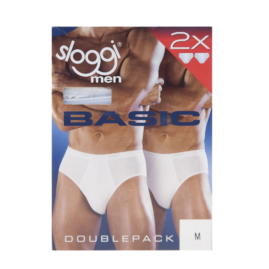 Mens Midi Brief Set in White