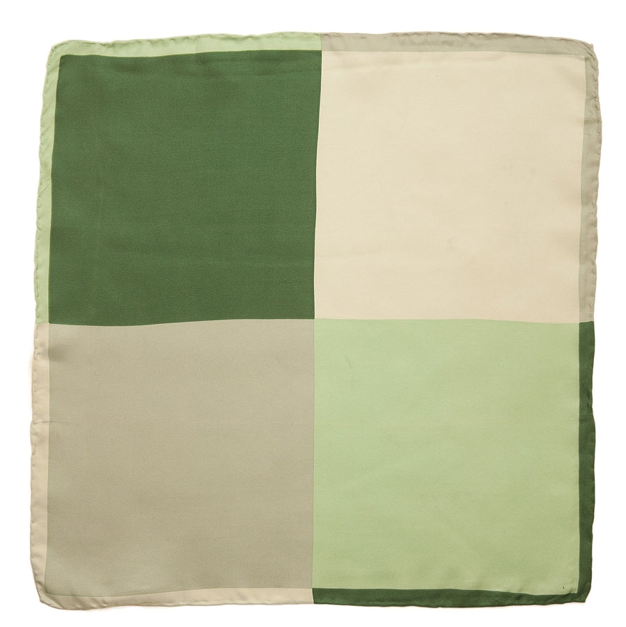 Silk Handkerchief in Green Multi