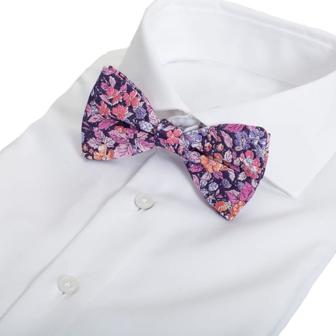 Ready Tied Liberty Print Bow Tie for Men in Pink Floral