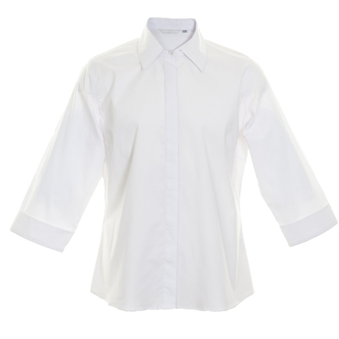 White CN Fitted Blouse in White