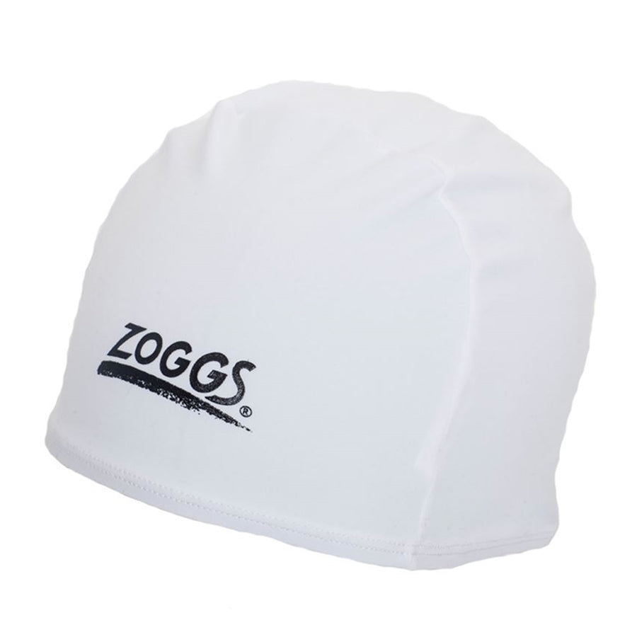 Deluxe Stretch Swim Cap in White