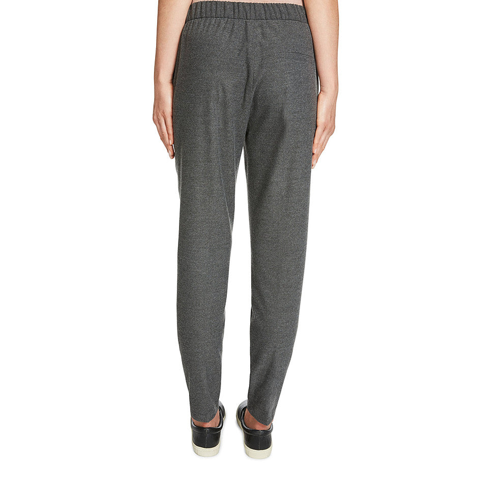 Flannel Look Jogger Trousers for Women in Dark Grey