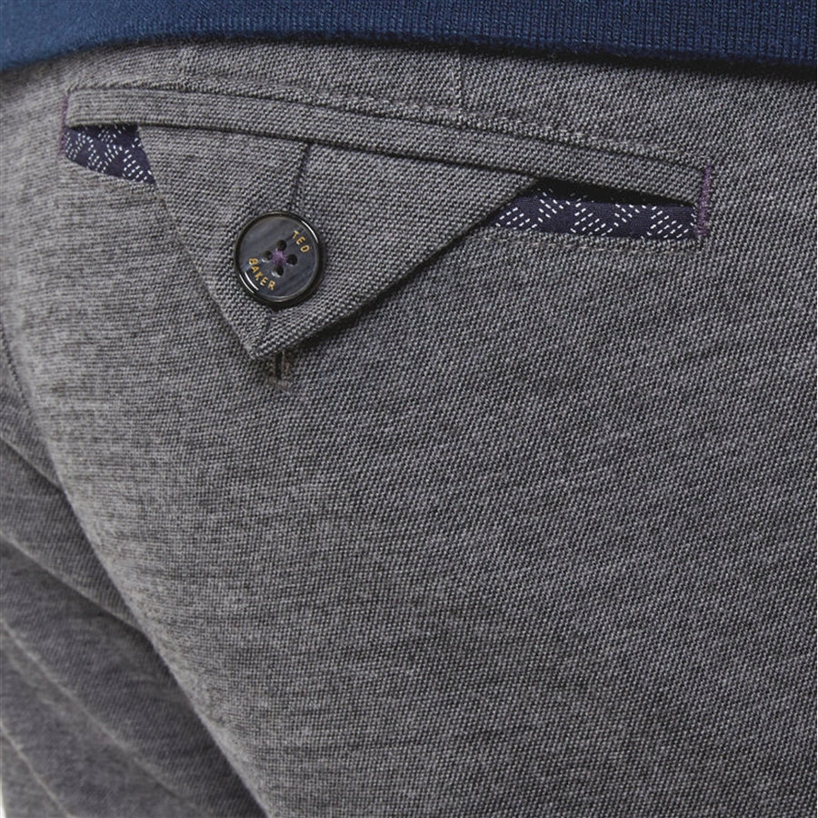Textured Chinos for Men in Grey