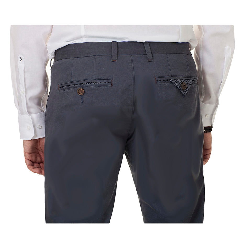 Procor Slim Fit Chinos for Men in Mid Blue