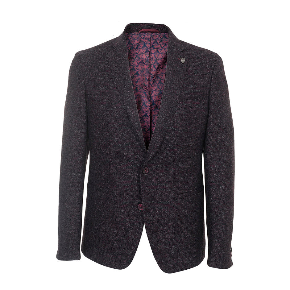 Slim Fit Blazer for Men in Burgundy