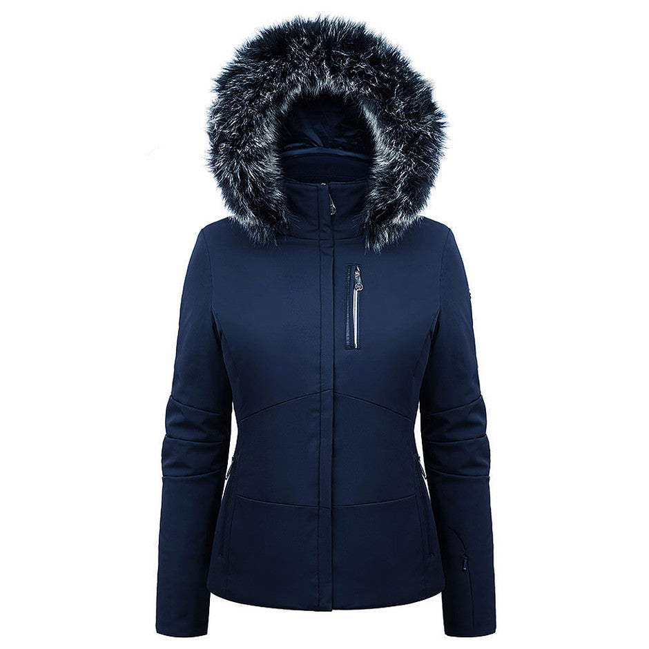 Stretch Ski Jacket for Women in Gothic Blue