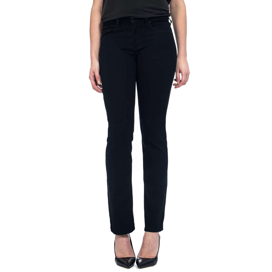 Womens Straight Leg Jeans in Black