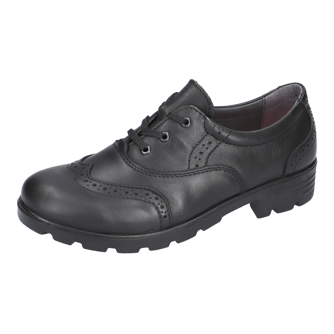 Lucy School Shoes for Girls in Black