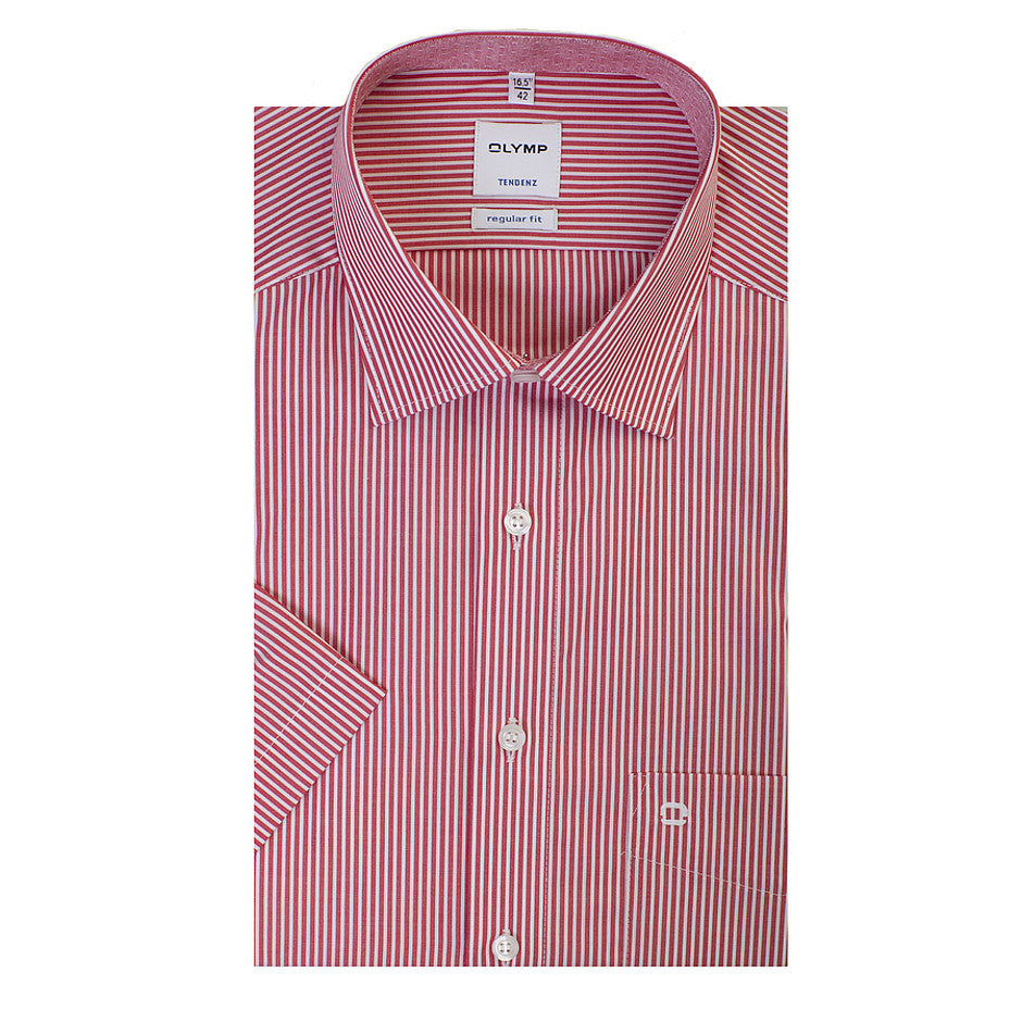 Tendenz Short Sleeve Formal Shirt for Men in Red