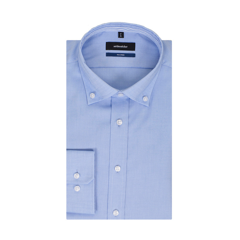 Tailored Fit Formal Shirt for Men in Blue