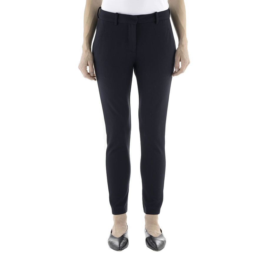 Kylie Crop Trousers for Women in Navy Panel