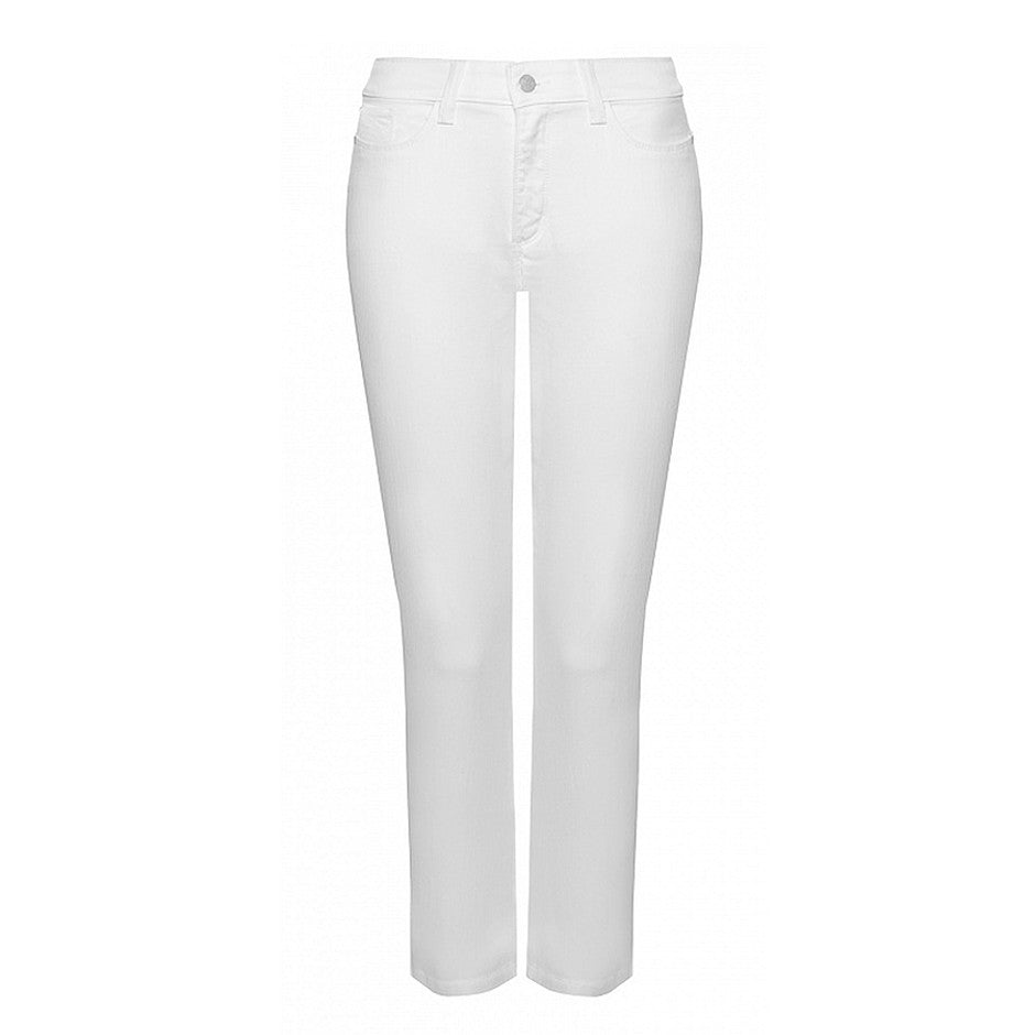 Alina Ankle Length Premium Denim Jeans for Women in Optic White