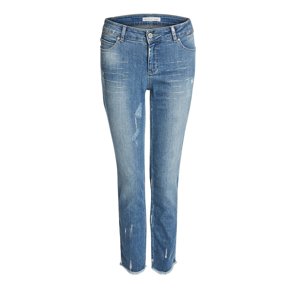 Baxtor Slim Fit Jeggings for Women in Blue Denim