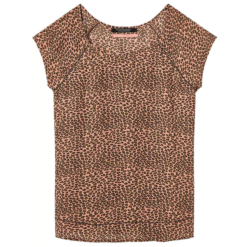 Short Sleeve Stitch Top for Women in Combo A