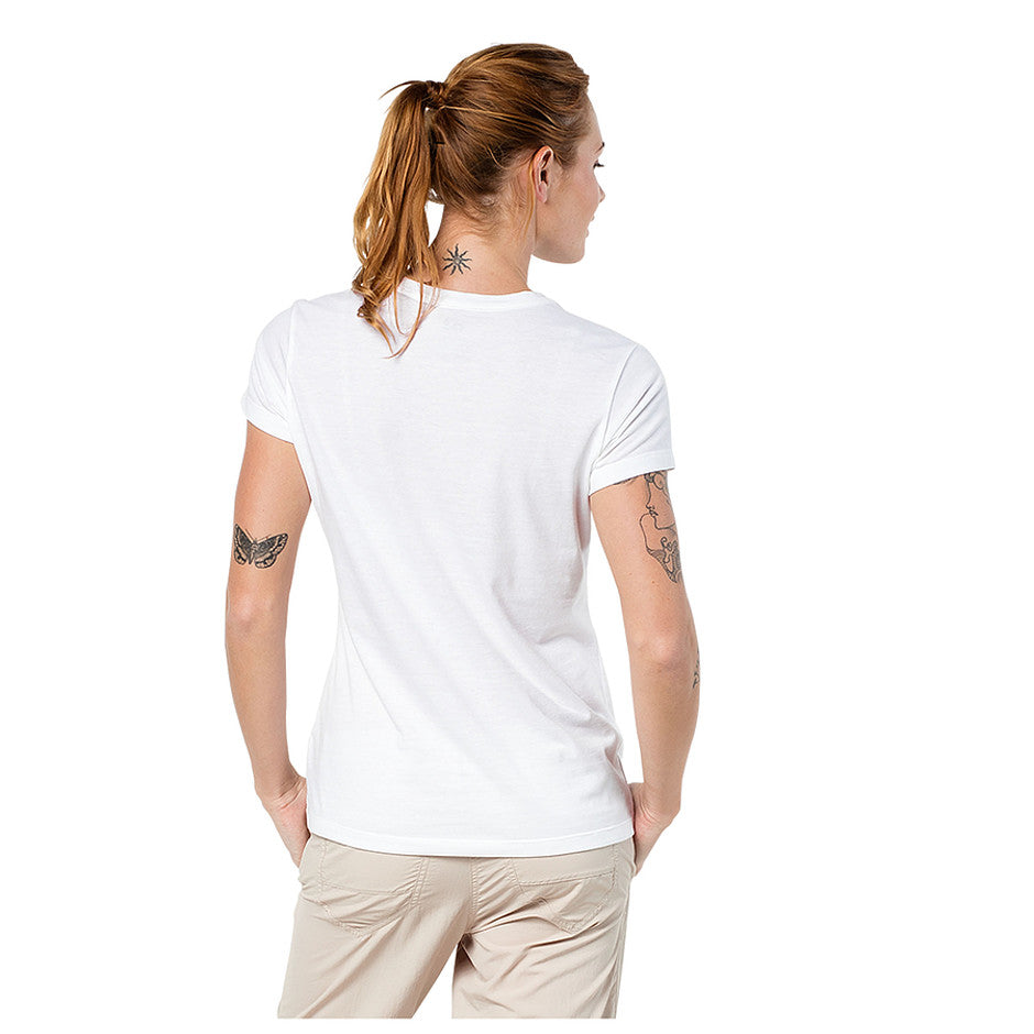Royal Palm T Shirt for Women in White Rush