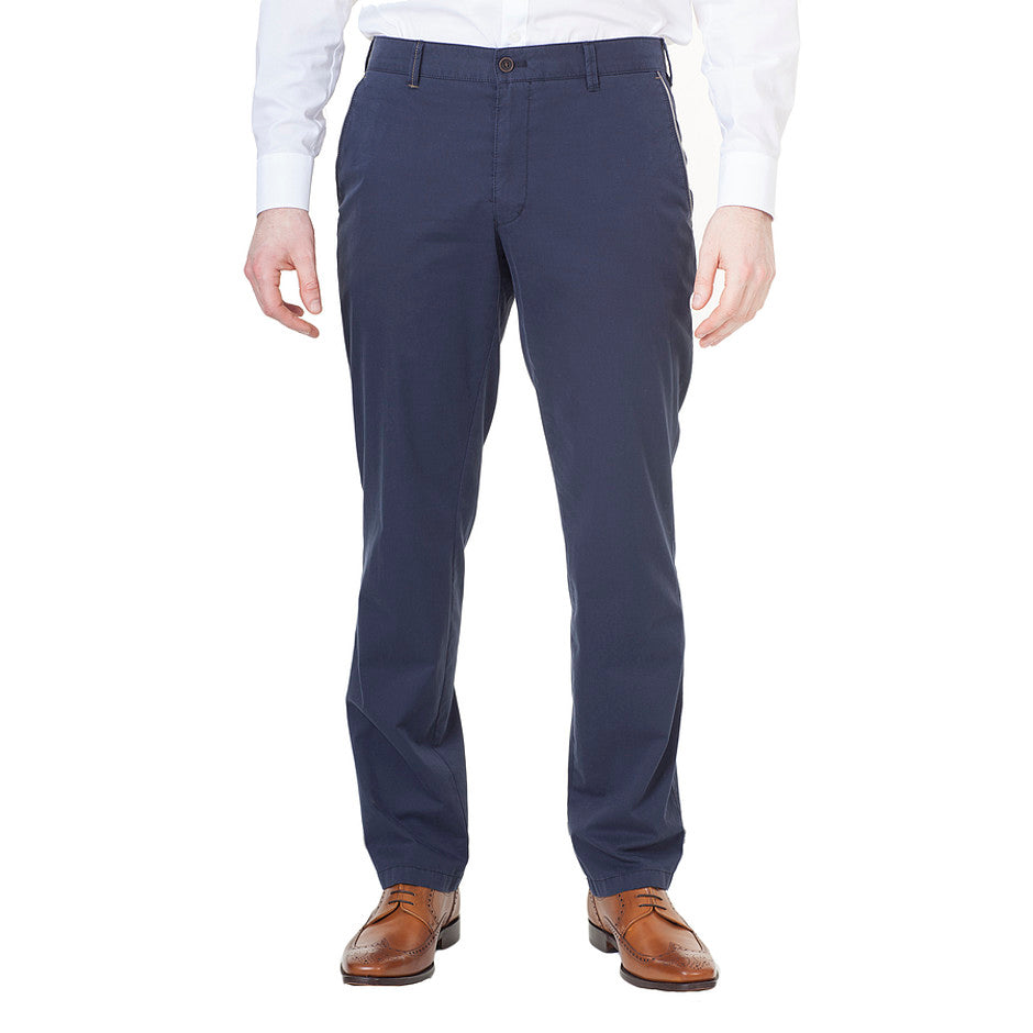 Trimmed Chinos for Men in Navy
