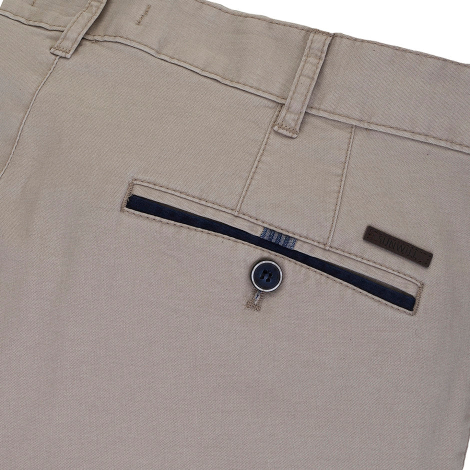 Trimmed Shorts for Men in Stone