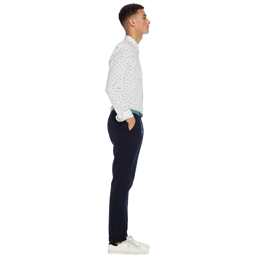 Slim Fit Chinos for Men in Ink