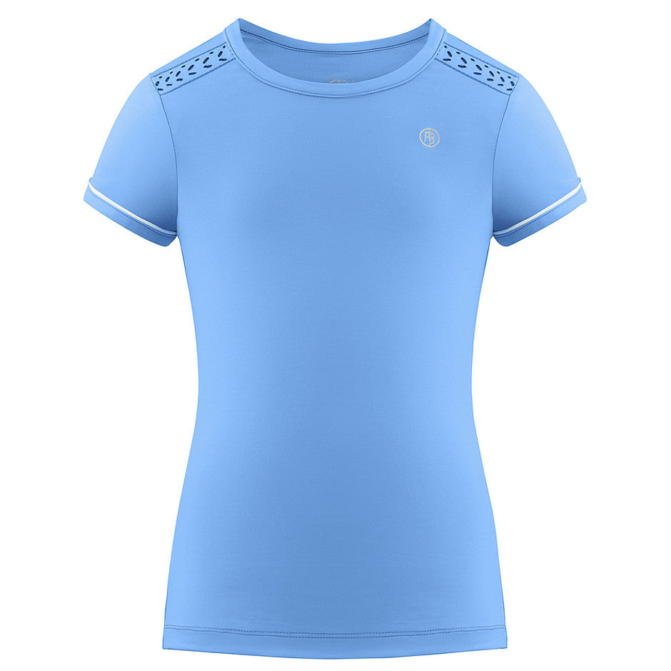 Tennis T-shirt for Girls in Blue and White