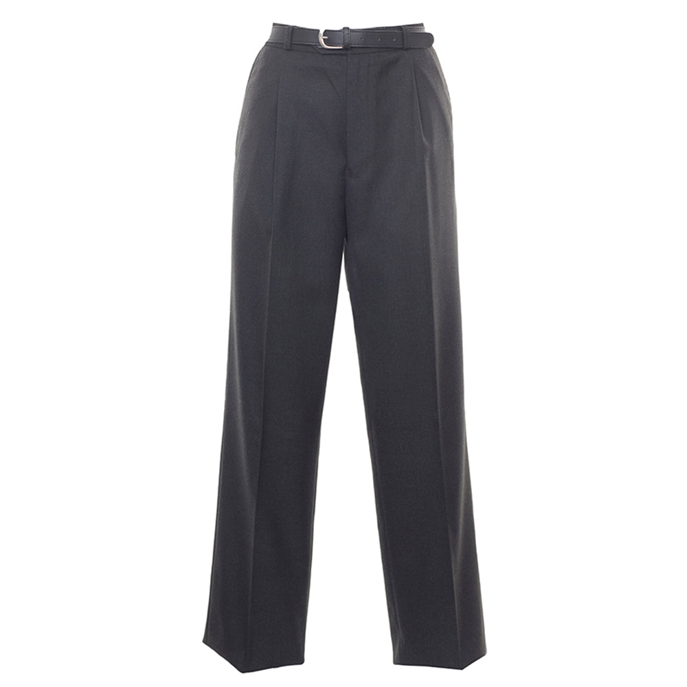 Senior Boys Pleated Trousers in Charcoal