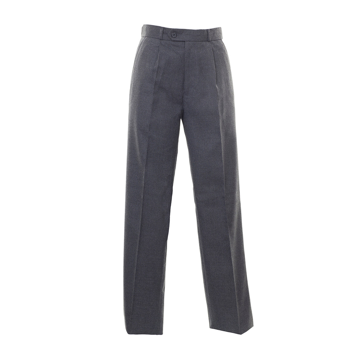 Senior Boys Pleated Trousers in Grey