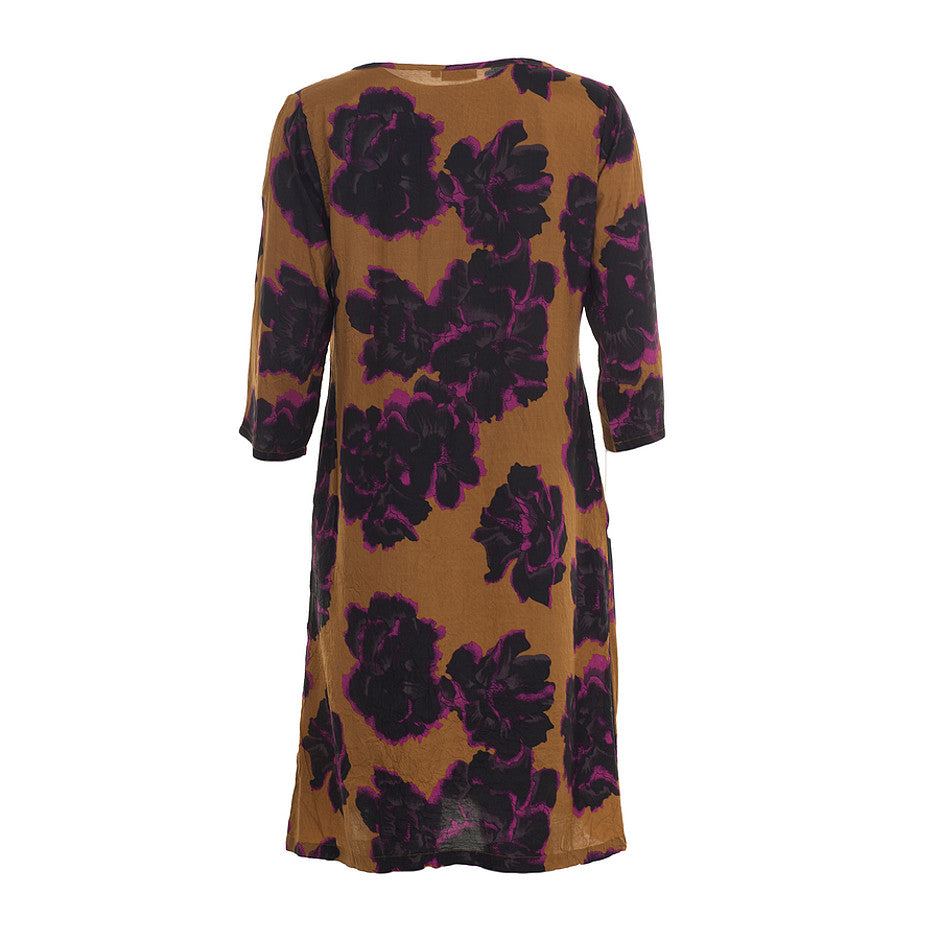 Nonie Floral Print Dress for Women in Ginger