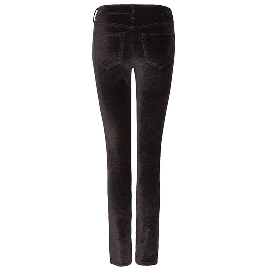 Marilyn Velvet Straight Leg Jeans for Women in Black