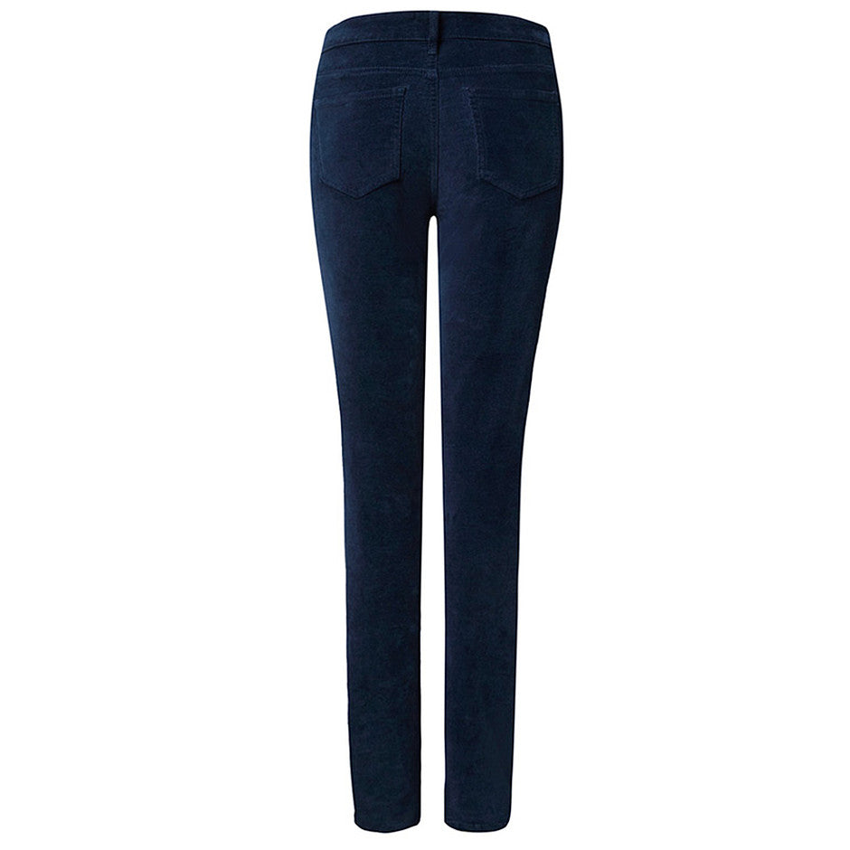 Marilyn Velvet Straight Leg Jeans for Women in Navy