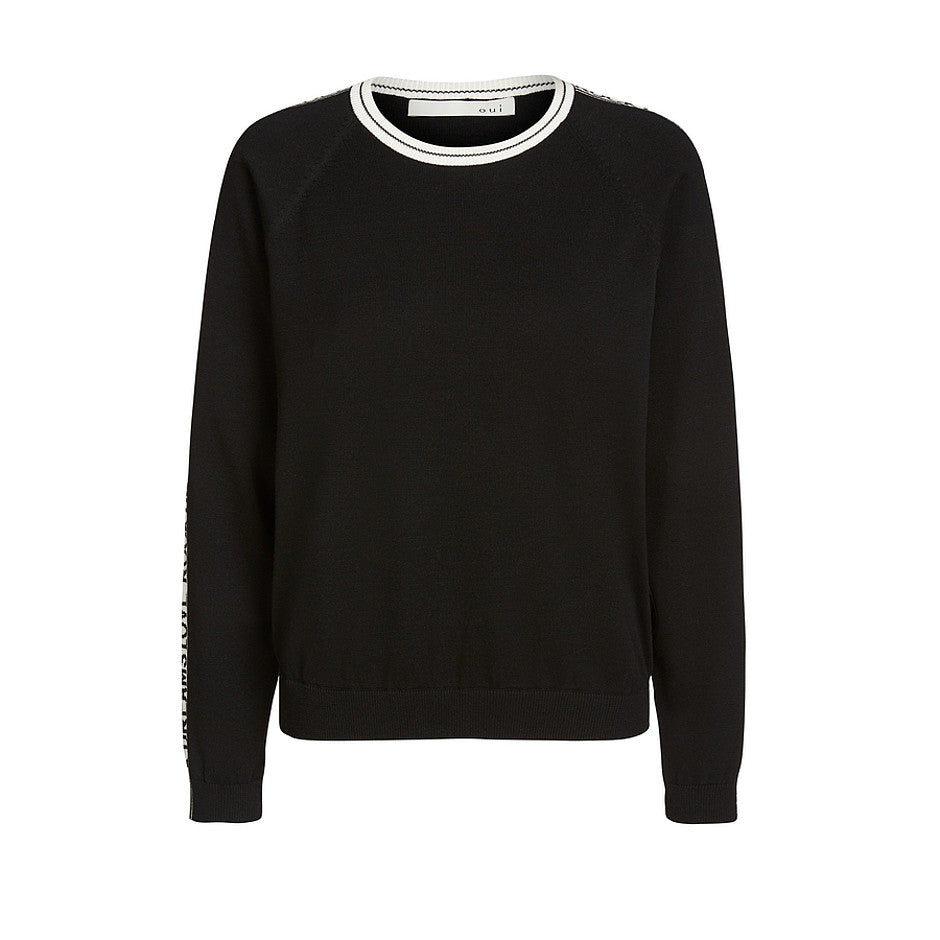 Cool Fine Knit Jumper for Women in Black and White