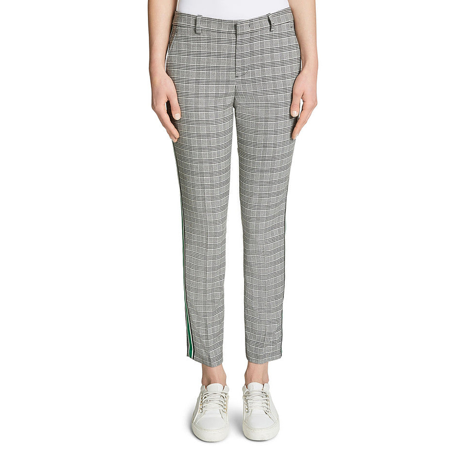 London Slim Cut Suit Trousers for Women in Black & White