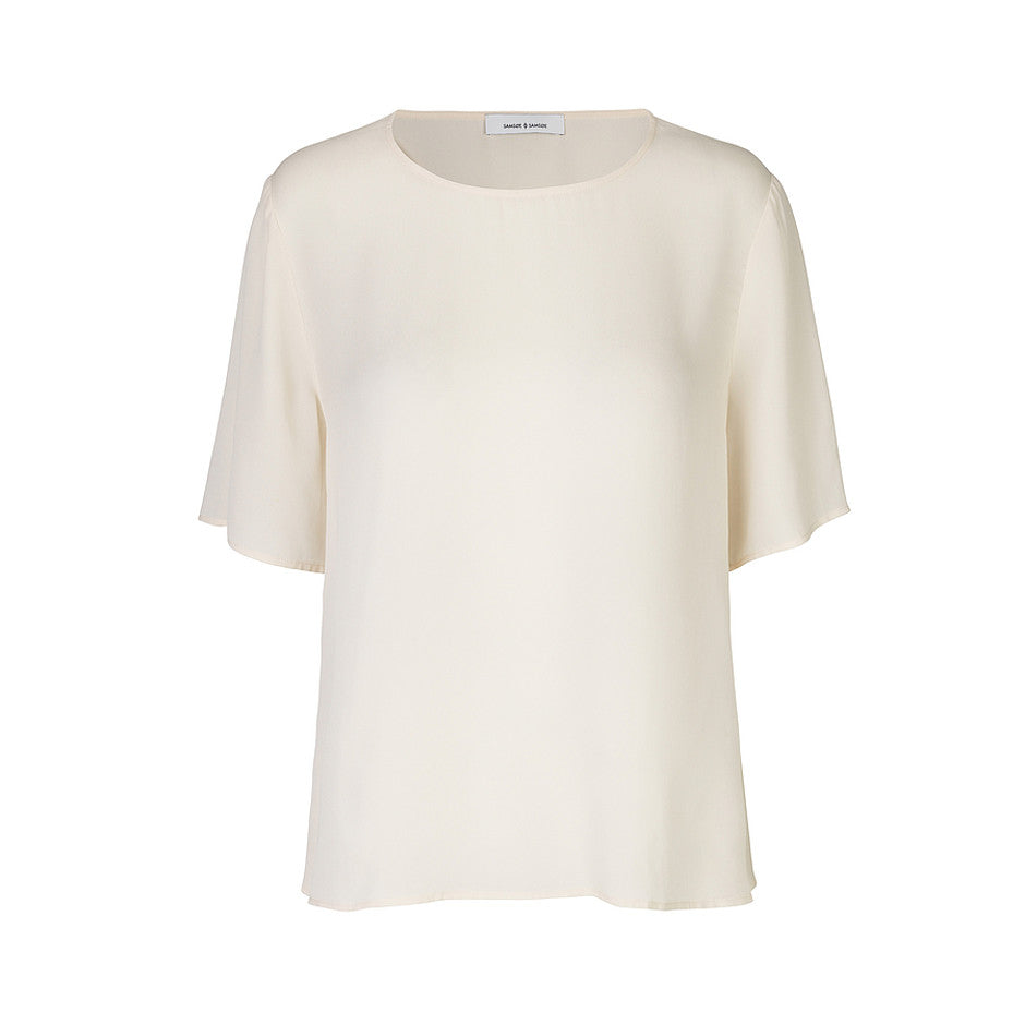 Sofia Short Sleeve Top for Women in Tapioca