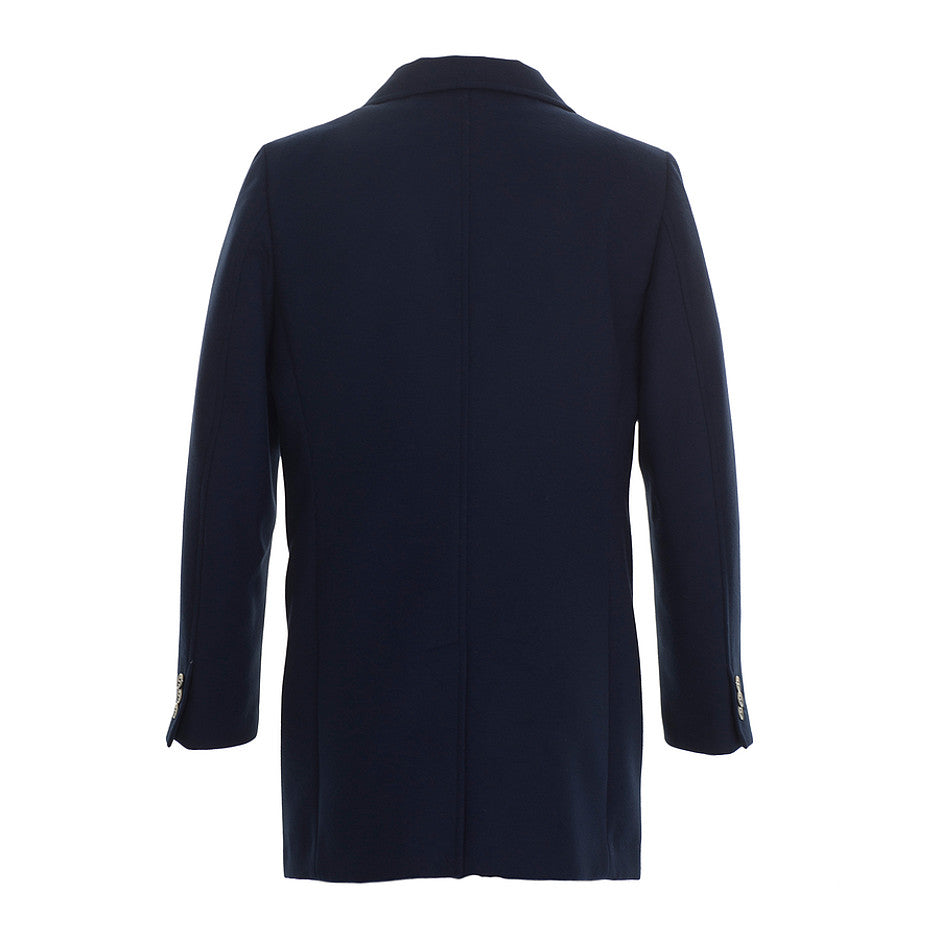 Shorty Fitted Overcoat for Men in Navy