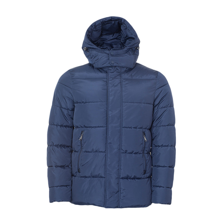 Quilted Casual Coat for Men in Navy