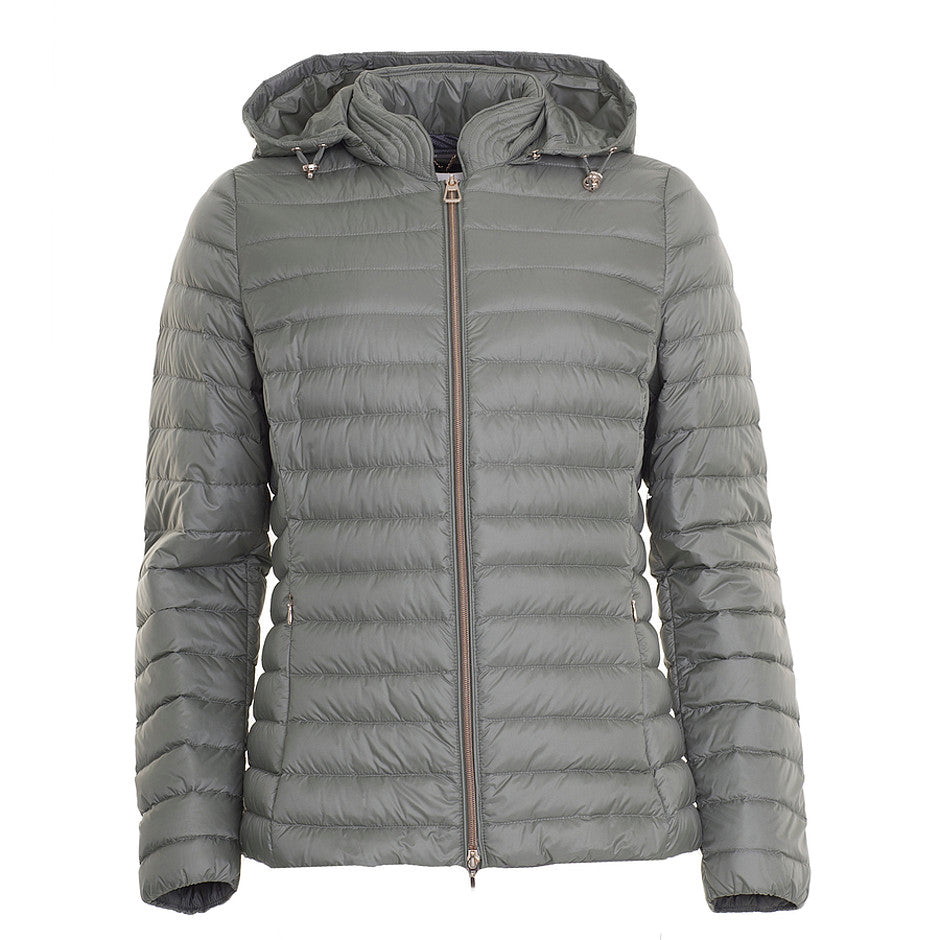 Quilted Down Jacket for Women in Sage