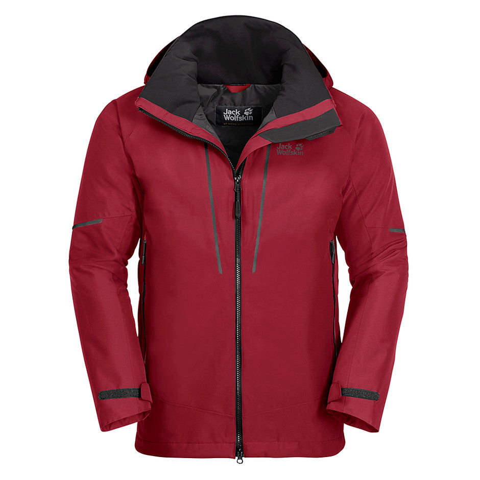 Escalente Hardshell Jacket for Men in Red Maroon