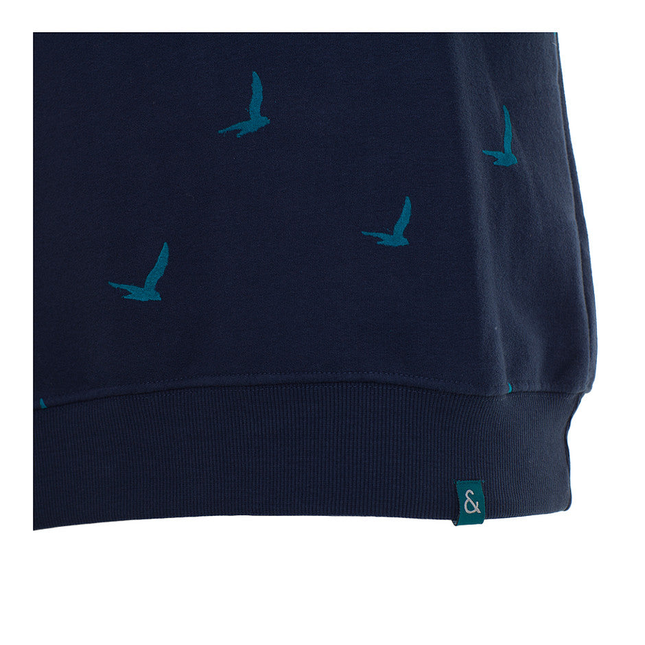 Printed Sweatshirt for Men in Navy