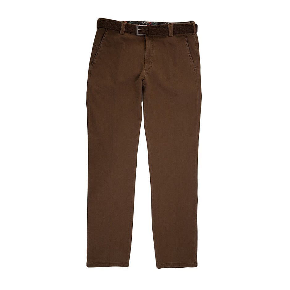New York Flamme Double Dyed Chinos for Men in Tan