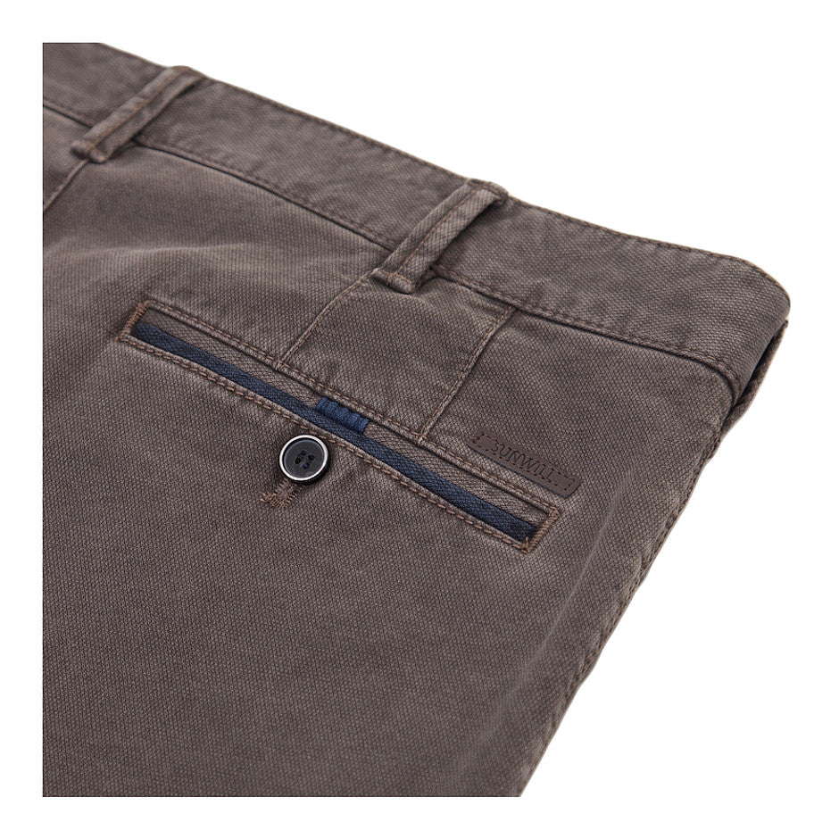Textured Chinos for Men in Brown