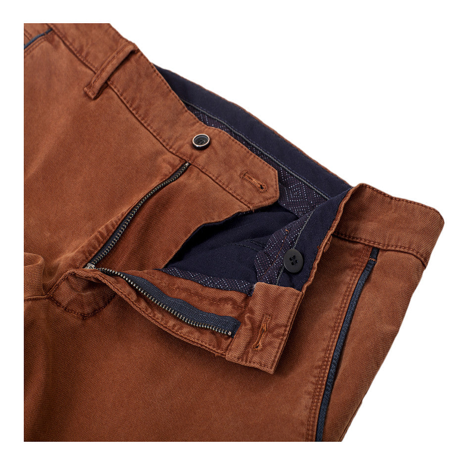 Textured Chinos for Men in Copper