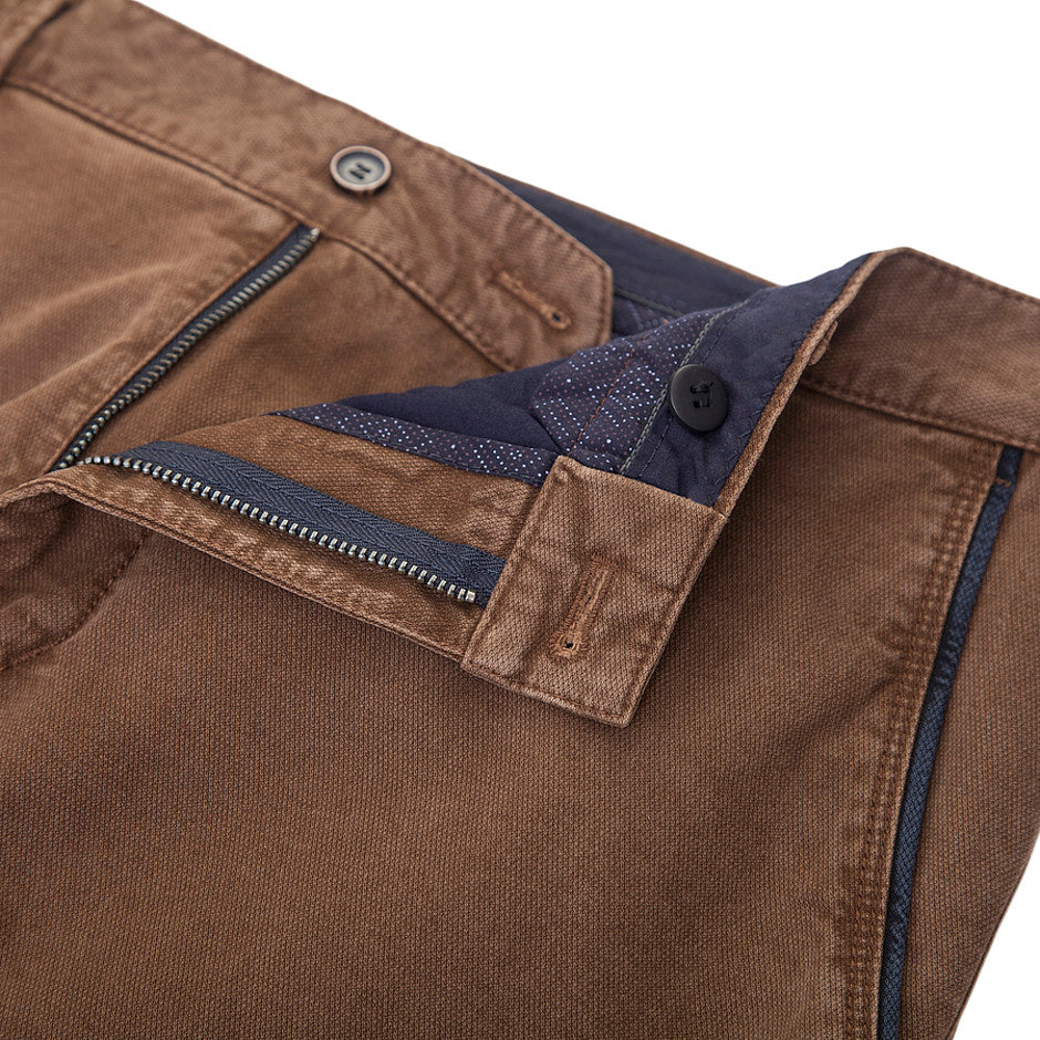Textured Chinos for Men in Tan