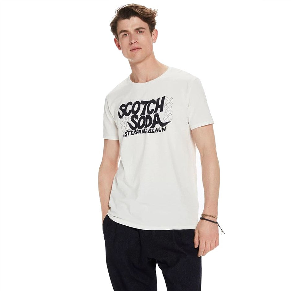 Printed T-Shirt for Men in White