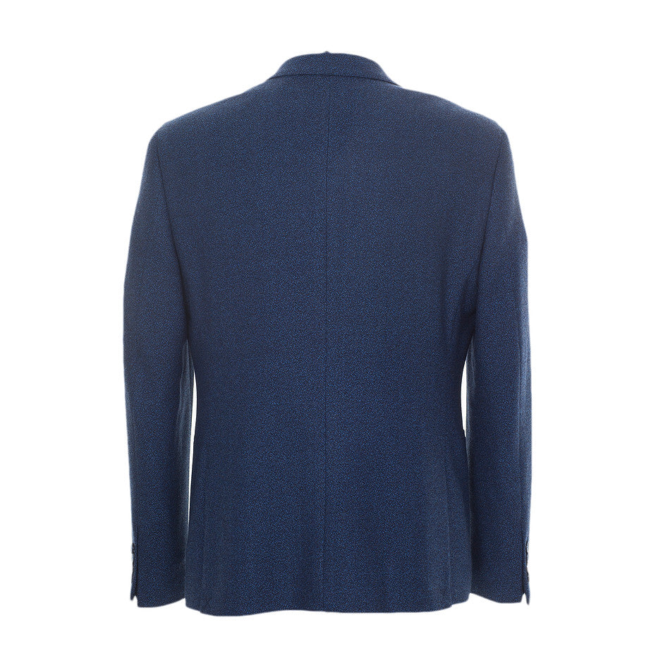 Tomeo Wool Blend Jacket for Men in Navy
