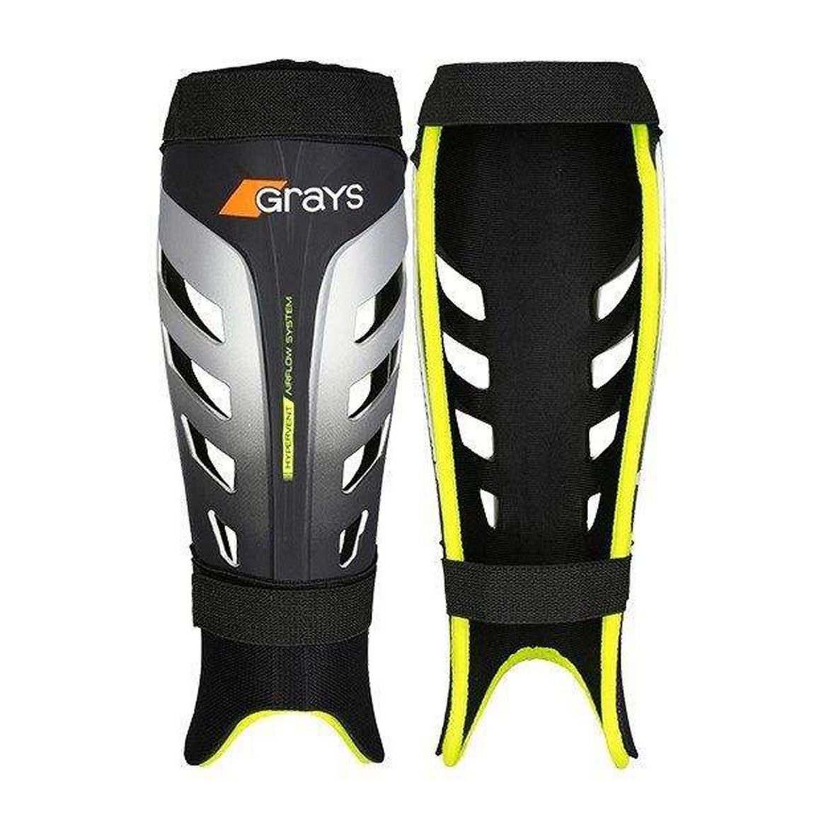 G800 Hockey Shinpad for Men in Black & Lemon