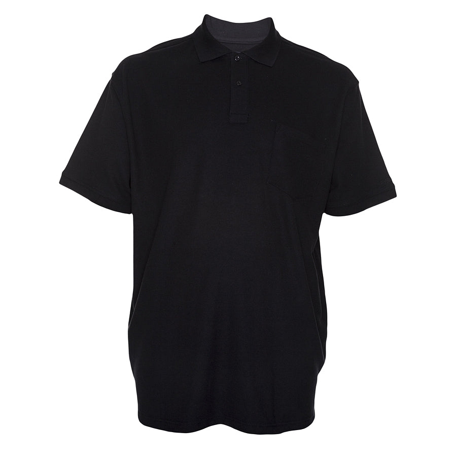 Mens Polo Shirt in Black 2XL - 8XL