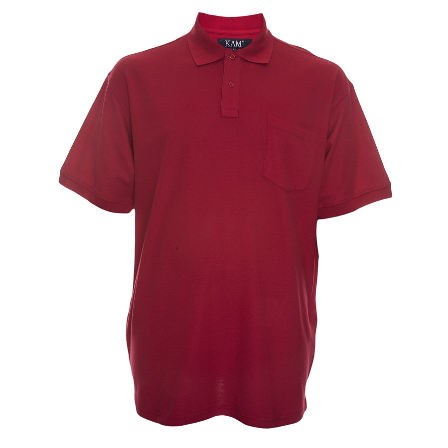 Mens Polo Shirt in Red 2XL - 8XL