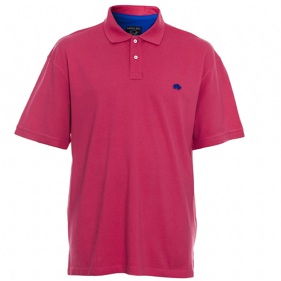 Big & Tall New Signature Polo Shirt for Men in Vivid Pink